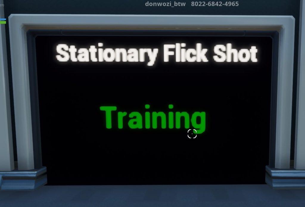 Stationary Flick Shotコース入り口