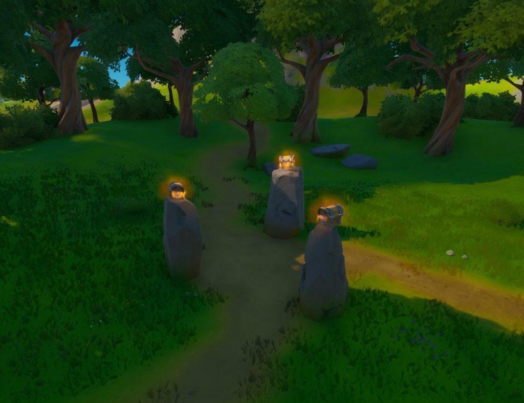 森の3つの宝箱