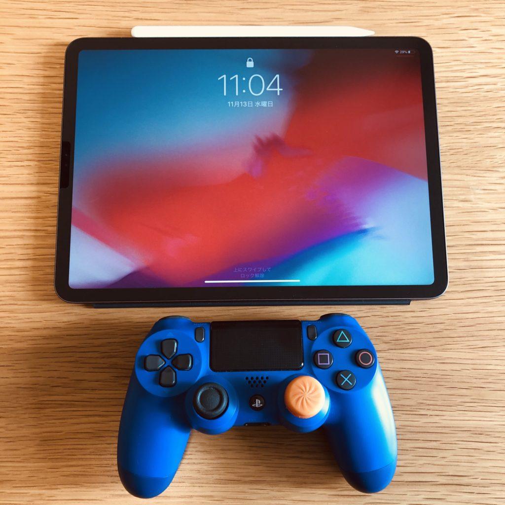 iPad デュアルショック4
