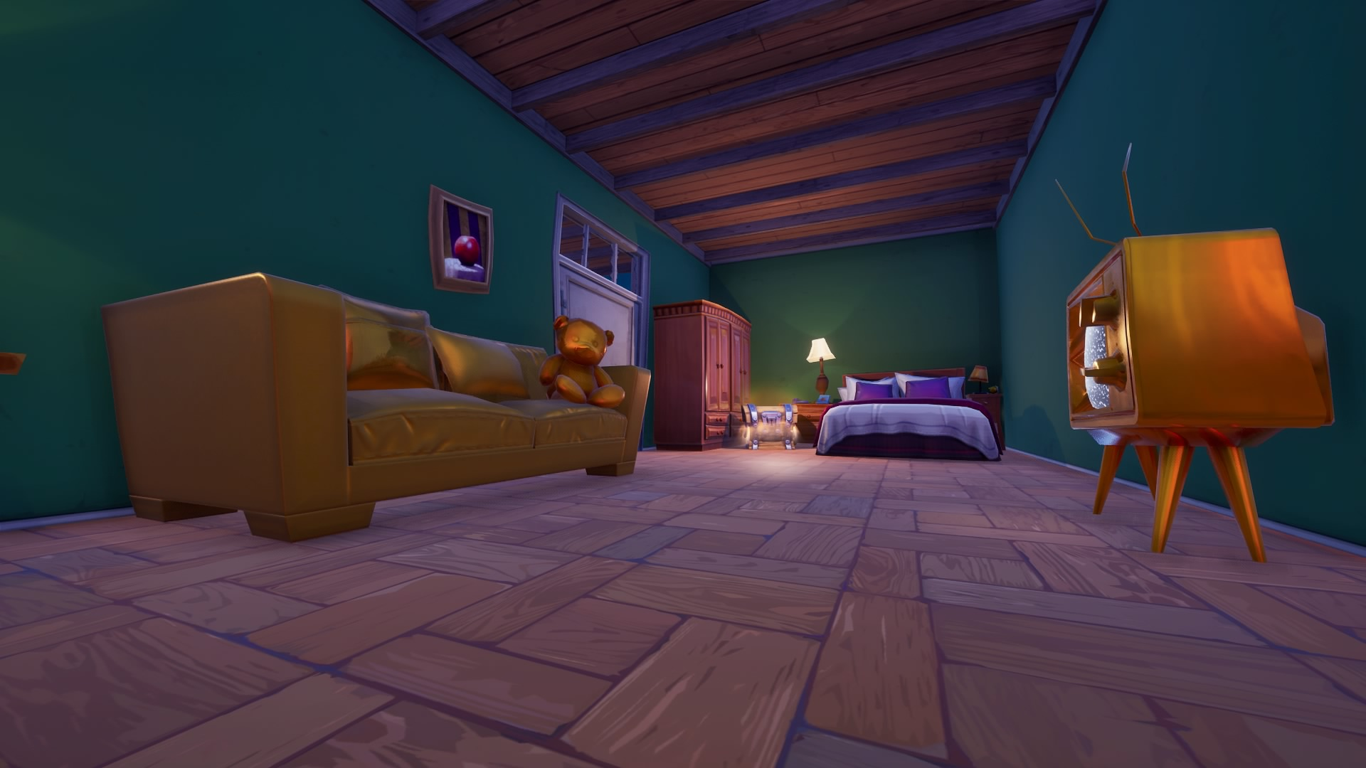 黄金の家具