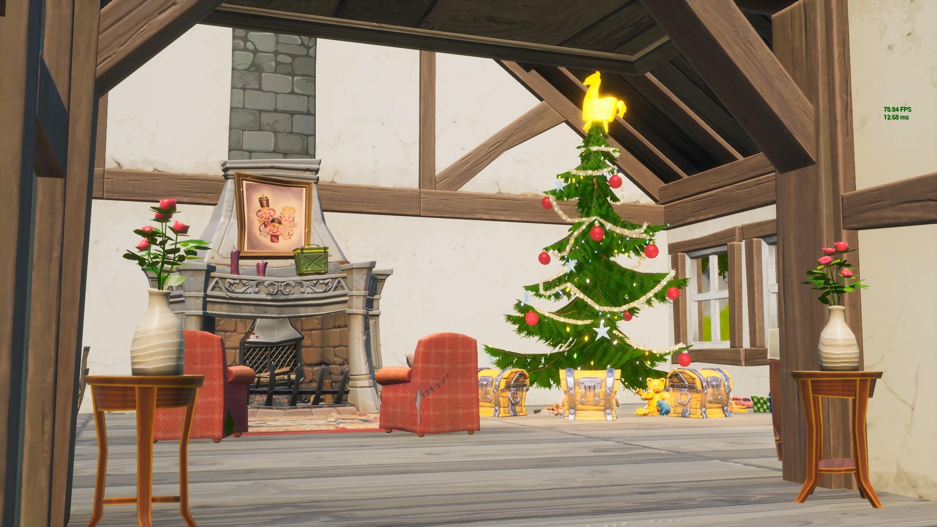 クリスマスツリーの家