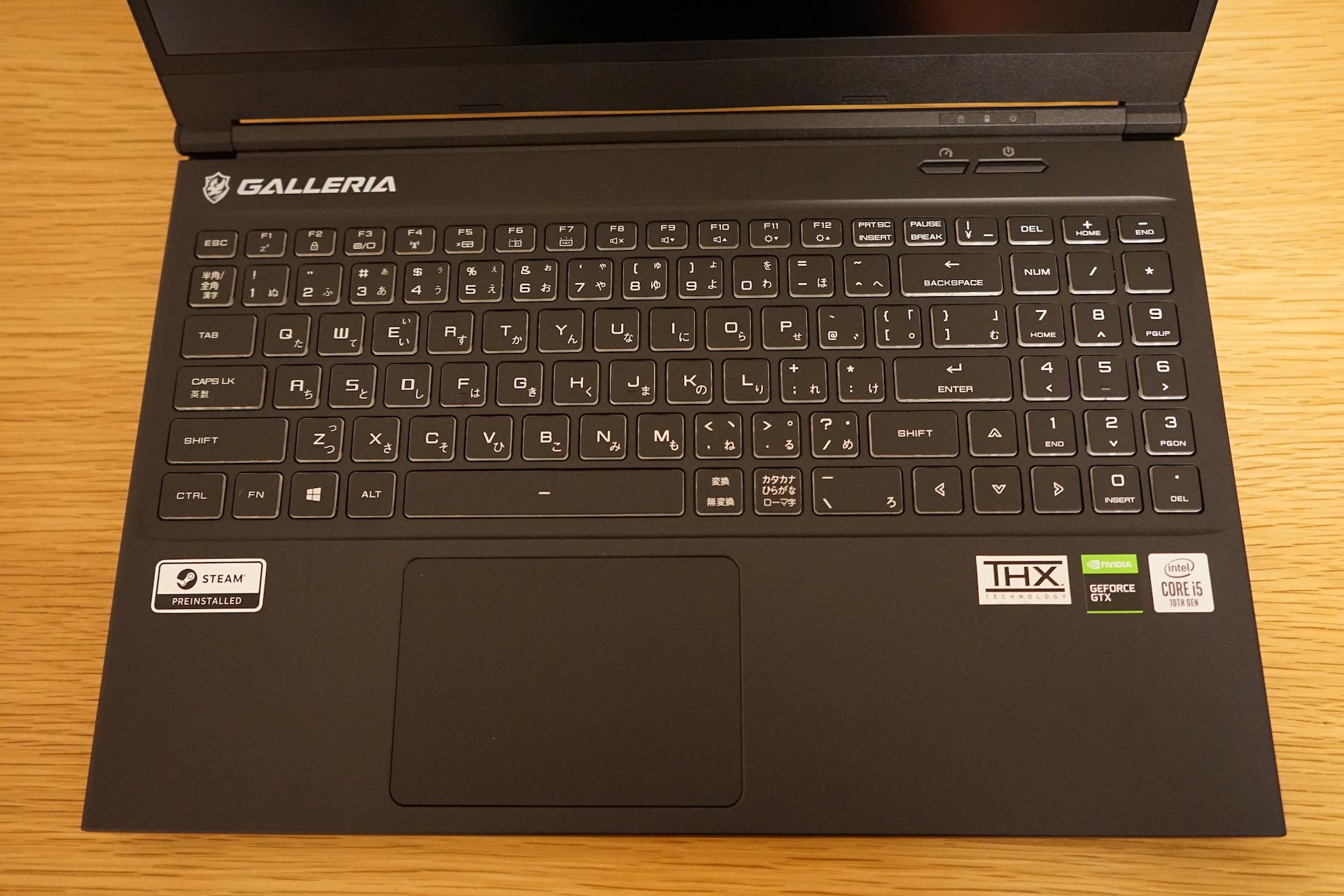 GCL1650TGF_キーボード