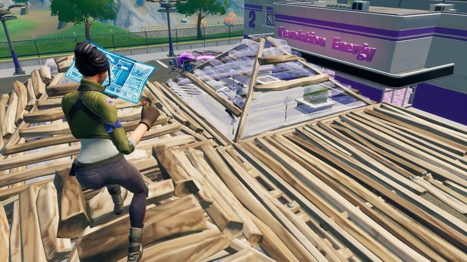 屋根でふさぐ